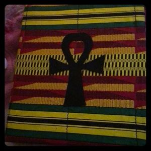 African kenta Ankh notebook